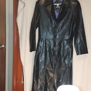 Dollhouse long black Faux leather
